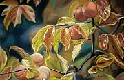 Peaches Painting Prints - Autumn Peaches Print by Brenda Williams