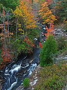 Rushing Water Prints - Autumn Peak Colors Print by Juergen Roth