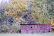 West Fork Posters - Autumn Poultry Barn Poster by Randy Bodkins