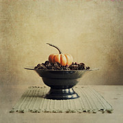 Apple Still Life Art - Autumn by Priska Wettstein