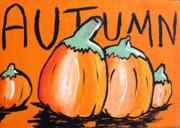 Autumn Pumpkins Print by Jera Sky