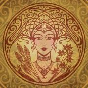 Gold Digital Art Prints - Autumn Queen Print by Cristina McAllister