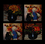 Cauldrons Framed Prints - Autumn Quilt Framed Print by Eva Thomas