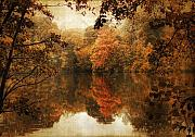 Ladnscape Metal Prints - Autumn Reflected Metal Print by Jessica Jenney