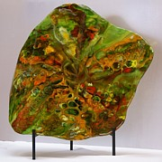 Contemporary Glass Art Originals - Autumn Reflection by Eleanor Brownridge