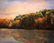 Autumn Landscape Metal Prints - Autumn Reflections 2 Metal Print by Jai Johnson