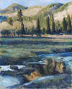 Billie Colson Paintings - Autumn Reflections by Billie Colson