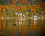 Salzkammergut Framed Prints - Autumn Reflections Framed Print by David Waldo