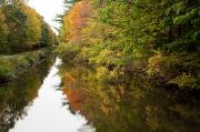 Blackstone Valley Prints - Autumn Reflections Print by Jenna Szerlag