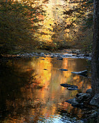 Reflections In River Prints - Autumn Reflections Print by TnBackroads Photography