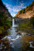 Taughannock Falls State Park Framed Prints - Autumn Riches Framed Print by Neil Shapiro