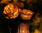 Antique Look Digital Art - Autumn Roses by Marsha Heiken