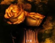 Autumn Roses Print by Marsha Heiken