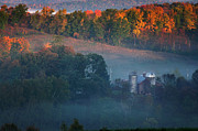 Old Barns Metal Prints - Autumn scenic - West Rupert Vermont Metal Print by Thomas Schoeller
