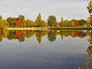 Idaho Scenery Prints - Autumn Season on the Lake - Scenic Idaho Print by Photography Moments - Sandi