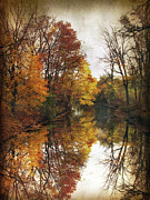 Fall Landscape Digital Art - Autumn Serenity by Jessica Jenney