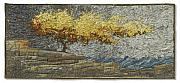 Rock Tapestries - Textiles Originals - Autumn Shoreline by Lorraine Roy