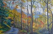 Fall Paintings - Autumn Smokies by Veronica Coulston