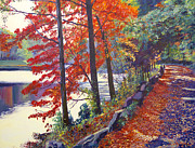 Impressionism Tapestries Textiles Originals - Autumn Sonata by David Lloyd Glover