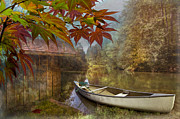 Kayaking Posters - Autumn Souvenirs Poster by Debra and Dave Vanderlaan