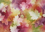 Deb Ronglien Watercolor Framed Prints - Autumn Splendor Framed Print by Deborah Ronglien