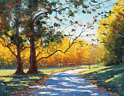 Fall Trees Posters - Autumn Splendor Poster by Graham Gercken