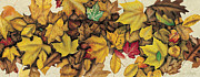 Fall Leaves Painting Prints - Autumn Splendor Print by JQ Licensing