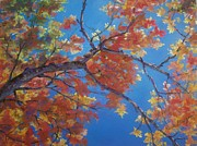 Red Leaves Pastels - Autumn Splendor by Resa Grogan