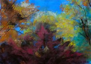 Autumn Prints Painting Posters - Autumn Splendor Poster by Susan Elise Shiebler