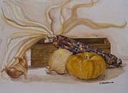 Rebecca Matthews Metal Prints - Autumn Still Life Metal Print by Rebecca Matthews