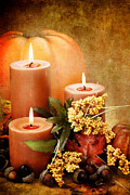 Candlelight Prints - Autumn Still Life Print by Stephanie Frey