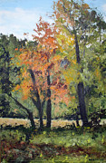 Ithaca Painting Prints - Autumn Still Life Print by William Elwood Deats