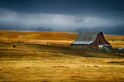Barn Storm Prints - Autumn Storm Print by John Poplin