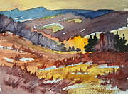 Berkshires Paintings - Autumn study by Len Stomski