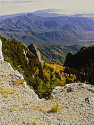 Sandia Mountains Photos - Autumn Summit Sandia by Andrea Hazel Ihlefeld