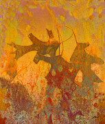 Leaves Mixed Media Prints - Autumn Sun Print by Ann Powell