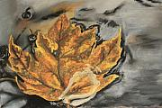 Leaf Pastels Originals - Autumn by Tina Foote