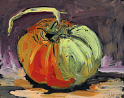 Interior Still Life Drawings Metal Prints - Autumn Tomato Metal Print by Scott Bennett
