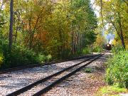 Fall Colors Art - Autumn Train by Scott Hovind