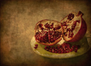 Pomegranate Posters - Autumn Treat Poster by Evelina Kremsdorf