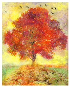 Gina Signore Digital Art - Autumn tree by Gina Signore