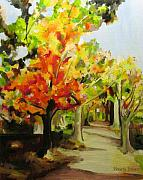 Brilliant Paintings - Autumn Trees by Beverly Trivane