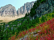Montana Digital Art - Autumn View from Highline Trail in Glacier NP by Ruth Hager