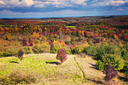 Maple Photographs Framed Prints - Autumn View from the Pinnacle Framed Print by Phill  Doherty