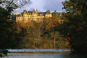 Homes Posters - Autumn View Of The Biltmore Poster by Melissa Farlow