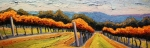 Impasto Oil Paintings - Autumn Vineyard by Christopher Mize