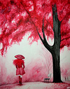 Portraits Paintings - Autumn Walk by Stephanie Moore