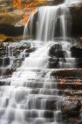 Akron Falls Posters - Autumn Waterfall II Poster by Kenneth Krolikowski