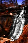 Akron Falls Posters - Autumn Waterfall III Poster by Kenneth Krolikowski