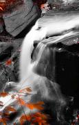 Akron Falls Posters - Autumn Waterfall IV Poster by Kenneth Krolikowski